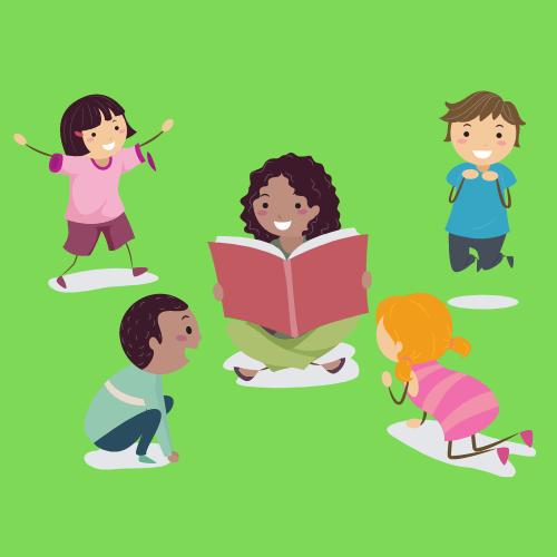 Outdoor Preschool Story Time